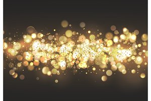 Christmas golden bokeh lights.
