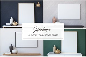Frame&Canvas&Wall Decal Mock-ups