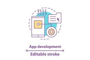 App development concept icon