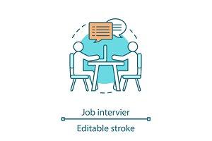 Job interview concept icon