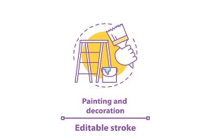 Painting and decoration concept icon