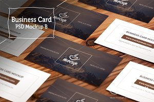 "Business Card Grid Layout Mockups ""B"