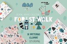 FOREST WALK creative graphic set