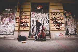 Street Musician portrait urban