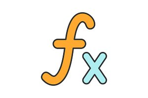 Math function color icon
