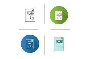 Math textbook icon