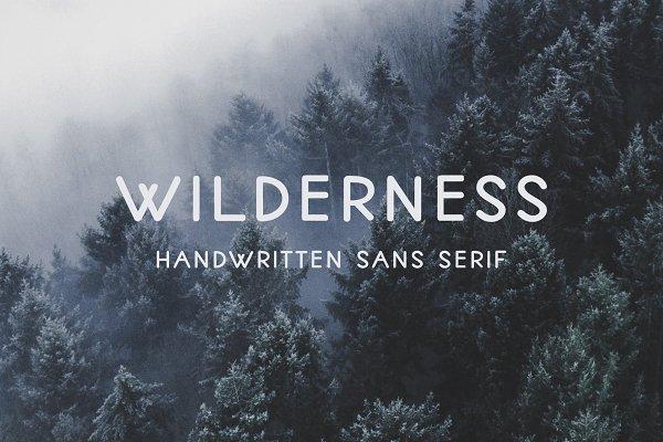 Wilderness   Handwritten Sans Serif…