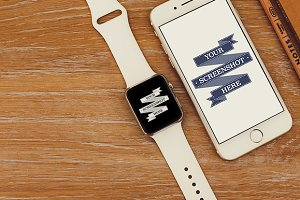 Apple Watch & iPhone 6 Device Mockup