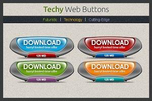 Techy Web Buttons