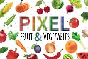 Pixel Fruit & Vegetables