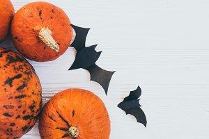 Bats ans pumpkins decorations