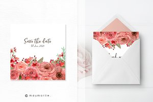 Floral vector BG, invitation 02