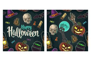 Seamless pattern for Halloween party