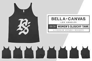 Bella Canvas 8838 Slouchy Tank Mocks