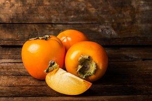 Delicious ripe persimmon fruit