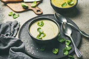Brussels sprouts vegetable cream