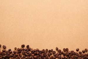 coffee beans on paper craft texture