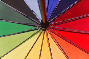 Colorful background. Colorful umbrel