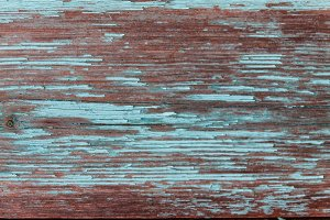 Colored wood background with peeling