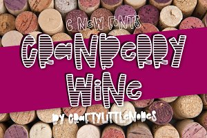 Cranberry Wine - Stripe Font Family