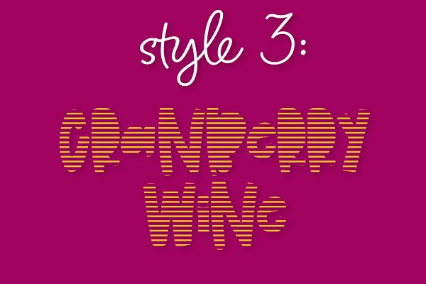 Best Cranberry Wine - Stripe Font Family Vector