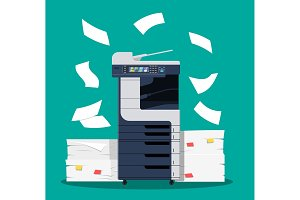 Office multifunction printer scanner