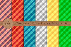 Checkered Plaid Tartan Patterns Set