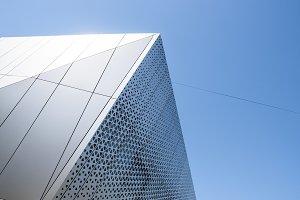 Building with white aluminum facade