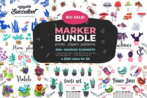 -90% Off, Huge Marker Graphic Bundle