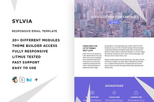 Sylvia – Email template + Builder