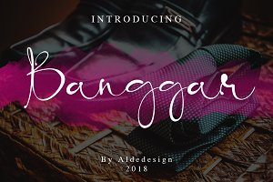 Banggar - Distinctive Signature Font