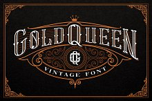 Gold Queen Vintage Font by  in Serif Fonts