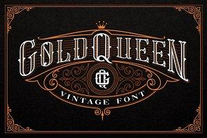 Gold Queen Vintage Font