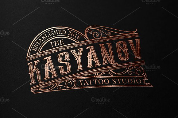 Gold Queen Vintage Font in Tattoo Fonts - product preview 6