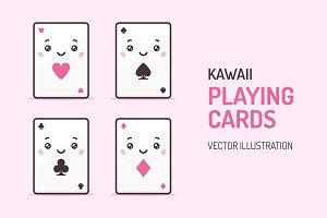 Playing Cards Kawaii Characters