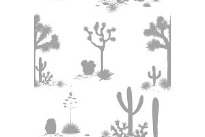 Desert seamless pattern with