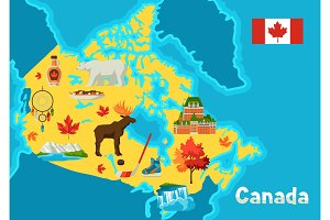 Illustration of Canada map.