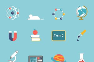 Science research and study symbols