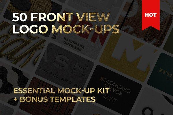 50 logo mockup branding bundle