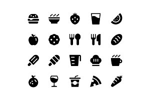Food & Drink Glyph Icons