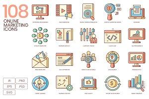 108 Fresh Online Marketing Icons