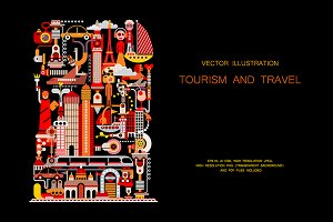 Tourism and Travel vector design