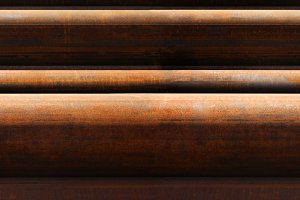 horizontal seamless pattern of rusty