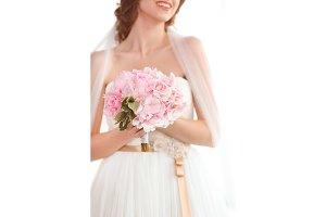 Bridal bouquet of pink wedding