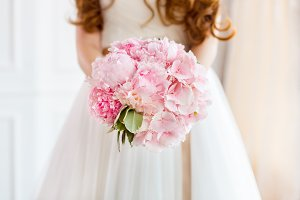 Bridal bouquet beautiful of pink