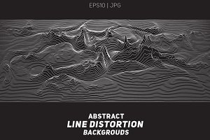 7 Line Distortion Backgrounds