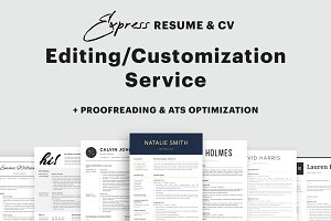 Resume Editing/Customization Service