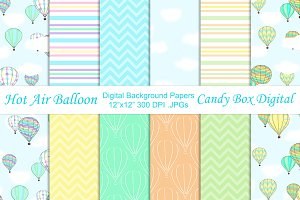 Summer Hot Air Balloon Papers
