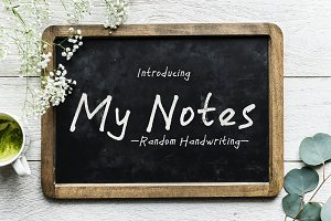 My Notes - a handwritten font