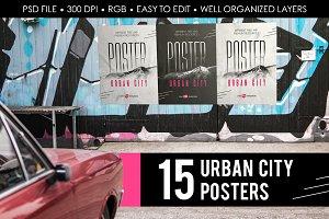 15 Premium Urban City Poster MockUps